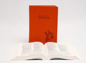 Biblia – középméretű, varrott kiállítású, narancssárga