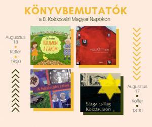Könyvbemutatók a Kolozsvári Magyar Napokon