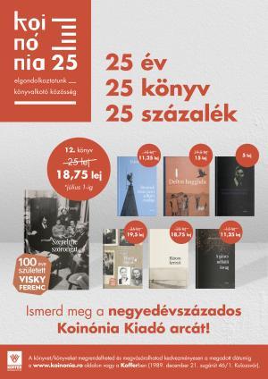 Visky Ferenc 100 évforduló: Vásároljon 25% kedvezménnyel a Patientia et fides sorozat köteteiből!